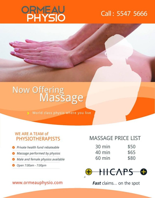 Massage Now Available Flyer